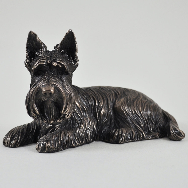 Scottie Dog Cold Cast Bronze Sculpture 8cm