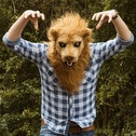 Thumbs Up Lion Mask