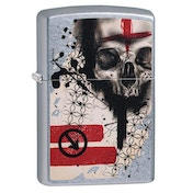Zippo Trash Polka Tattoo Skull Chrome Regular Windproof Lighter