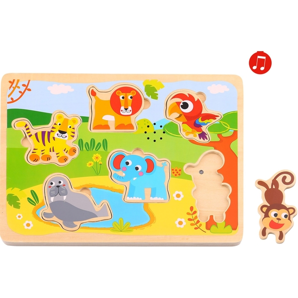 Wooden Animals Puzzle With Sound
