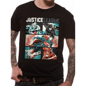 Justice League Comics - Pop Art Men's Small T-Shirt - Black