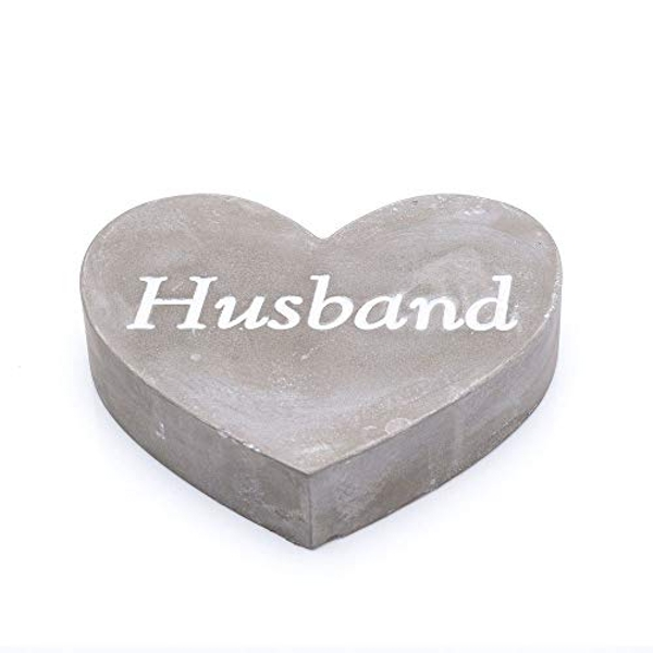 Thoughts Of You Graveside Concrete Heart - Husband