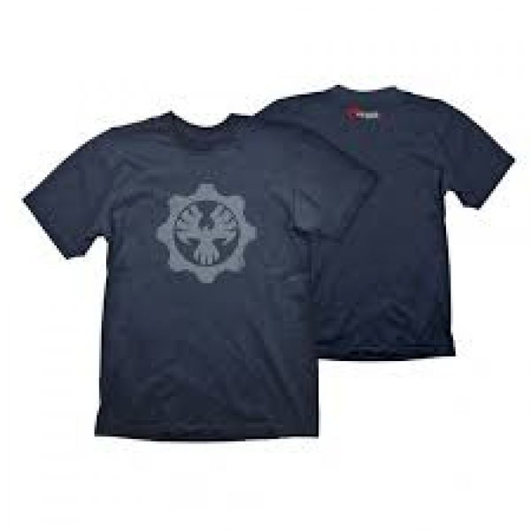 Gears Of War 4 Men's Phoenix Omen Symbol Large Navy Blue T-Shirt