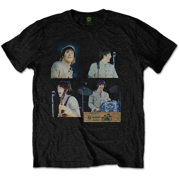 The Beatles - Shea Stadium Shots Men's Medium T-Shirt - Black