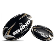 Rhino Guinness Pro12 Black Supporters Rugby Ball Mini