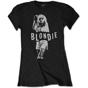 Blondie - Mic. Stand Women's Large T-Shirt - Black