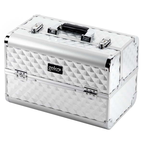 Vanity Case Makeup Box Heavy Duty Silver