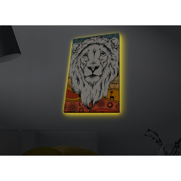 4570MDACT-080 Multicolor Decorative Led Lighted Canvas Painting