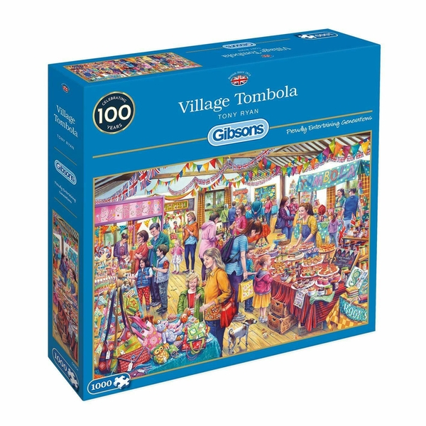 Gibsons Village Tombola Jigsaw Puzzle - 1000 Pieces