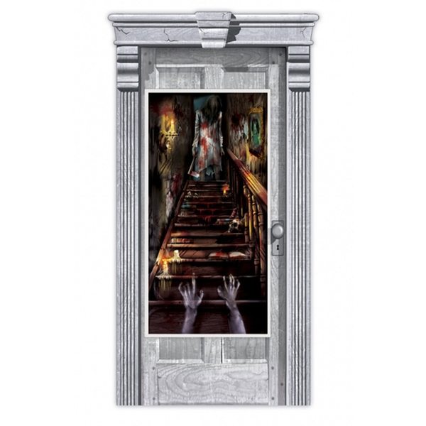 Haunted House Stairway Door Decoration 1.65cm x 85cm