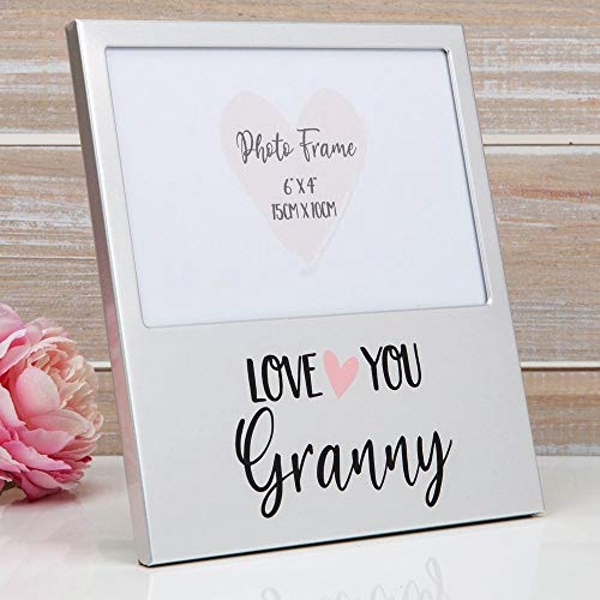 "6"" x 4"" - Aluminium Photo Frame - Love You Granny"