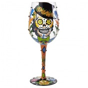 Sugar Skulls Wine Glass