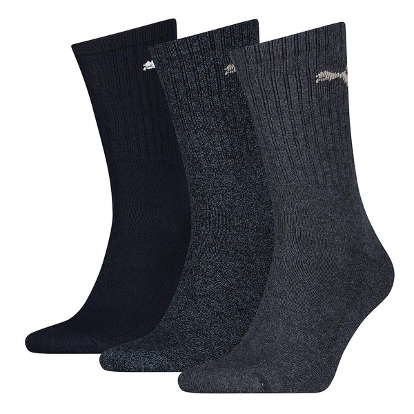 Puma Sports Crew Socks (3 Pairs) Navy - UK Size 12-14