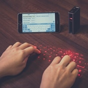 Thumbs Up! Laser Keyboard and 5200 Mah Powerbank