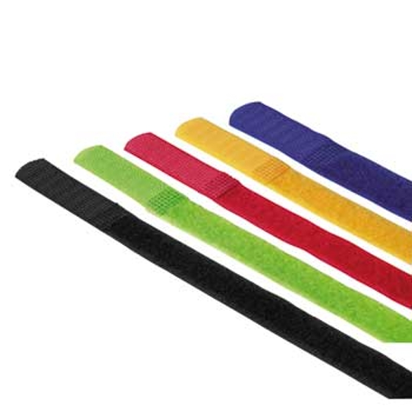 Hama Hook and Loop Cable Ties, 215 mm, coloured