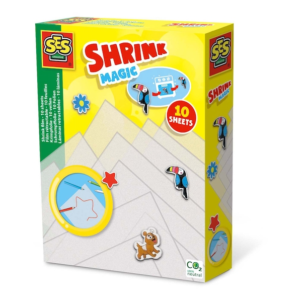 SES CREATIVE Children's Magic Shrink Film Set with 10 Sheets