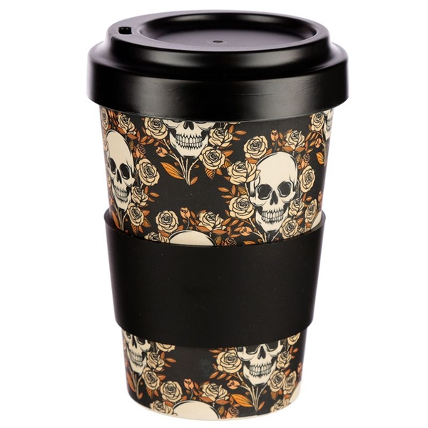 Skulls and Roses Design Bambootique Eco Friendly Travel Cup/Mug