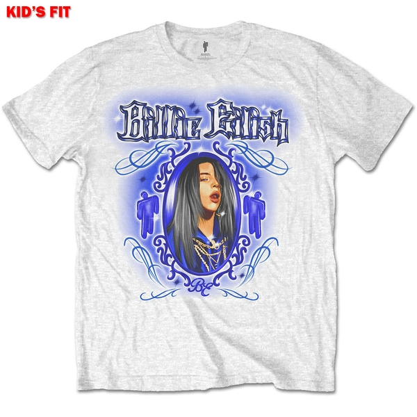 Billie Eilish - Airbrush Photo Kids 13 - 14 Years T-Shirt - White