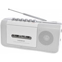 Lloytron N8103WH Modena Portable Radio Cassette Recorder with 2 Band Radio UK Plug