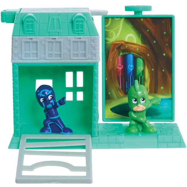PJ Masks Night Time Micros Trap & Escape Gekko & Ninja Playset