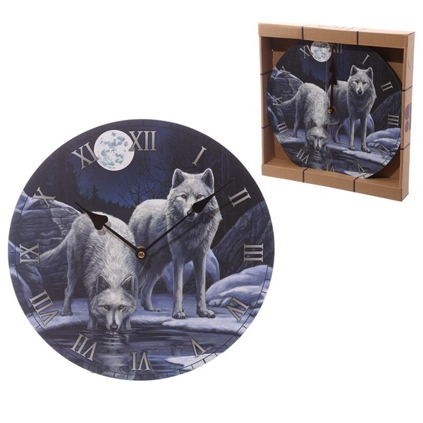 Wolf Warriors of Winter Decorative Wall Clock