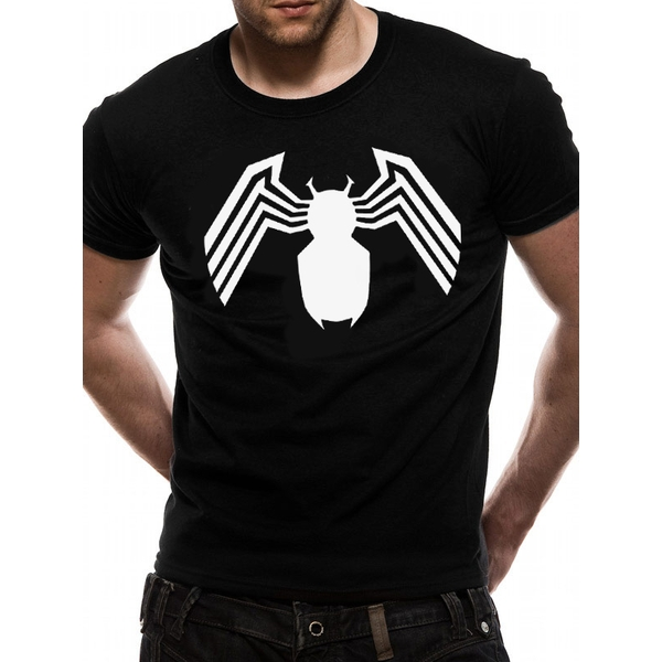 Venom - White Logo Men's Small T-Shirt - Black