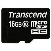 Transcend Flash memory card 16 GB microSDHC Class 10 TS16GUSDC10