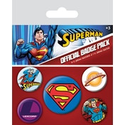 Superman 5 Badge Pack