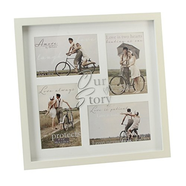 "4"" x 6"" - AMORE BY JULIANA? Our Story Wedding Collage Frame"