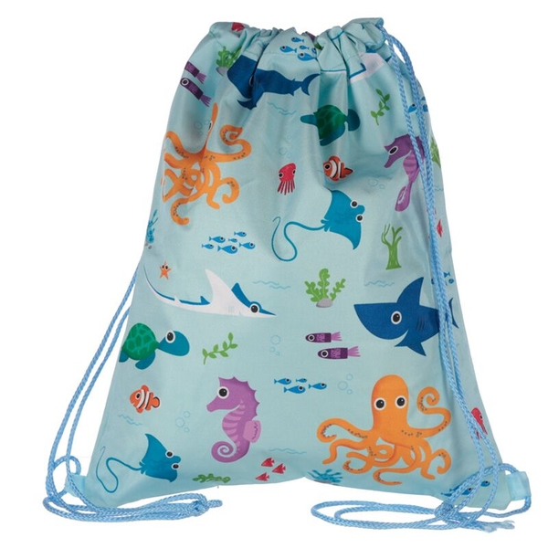 Fun Sealife Design Handy Drawstring Bag