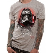Star Wars 8 The Last Jedi - Captain Phasma Art Men's Small T-Shirt - Grey