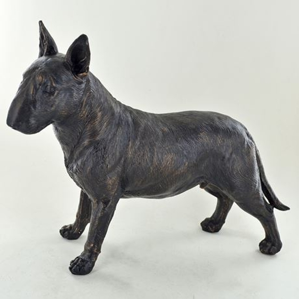 Bull Terrier Standing Cold Cast Bronze Sculpture 19cm