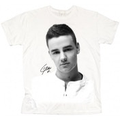 One Direction Liam Solo B&W Ladies White T Shirt: Large