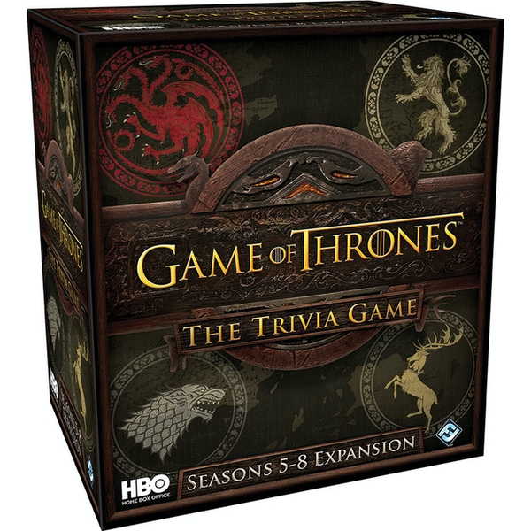 HBO Game of Thrones Trivia Game Seasons 5-8 Expansion