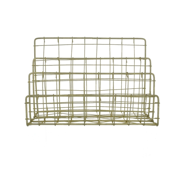 Wire Letter Rack Wavy Gold 26cm
