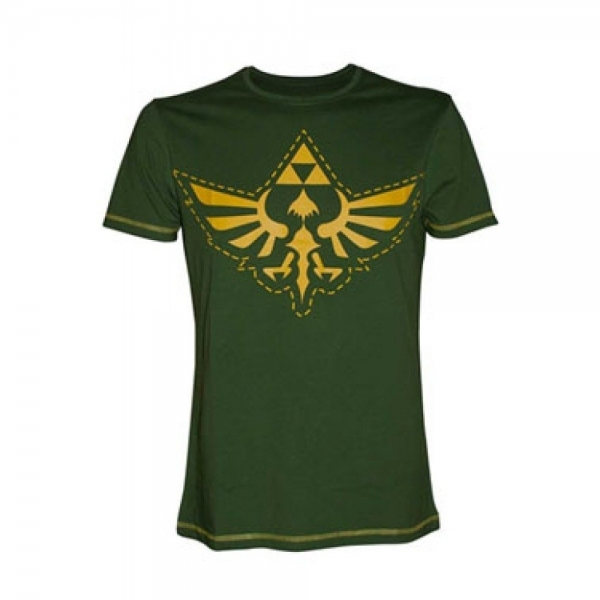 Nintendo Legend of Zelda Royal Crest Cutout XX-Large T-Shirt - Green