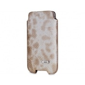SOX Serpente Genuine Leather Premium Mobile Phone Pouch for iPhone/Samsung and more, Large, Sand (SOX KSE 02 L)