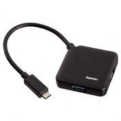 Hama USB 3.1 Type-C Hub 1:4 Bus powered (Black)