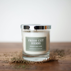 Fresh Cut Herbs (Pastel Collection) Glass Candle