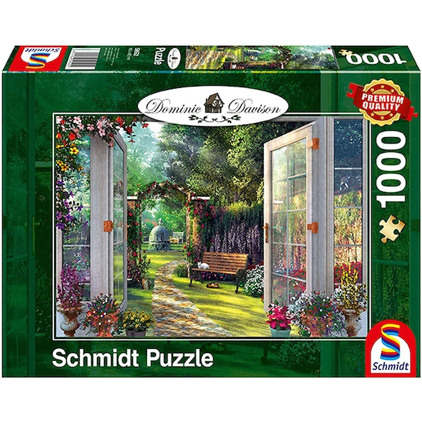 Dominic Davison: View of the Enchanted Garden 1000 Piece Jigsaw Puzzle