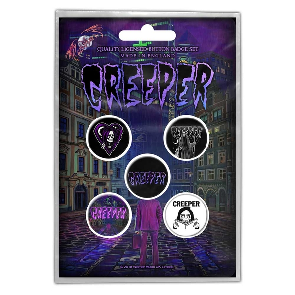 Creeper - Eternity In Your Arms Button Badge Pack