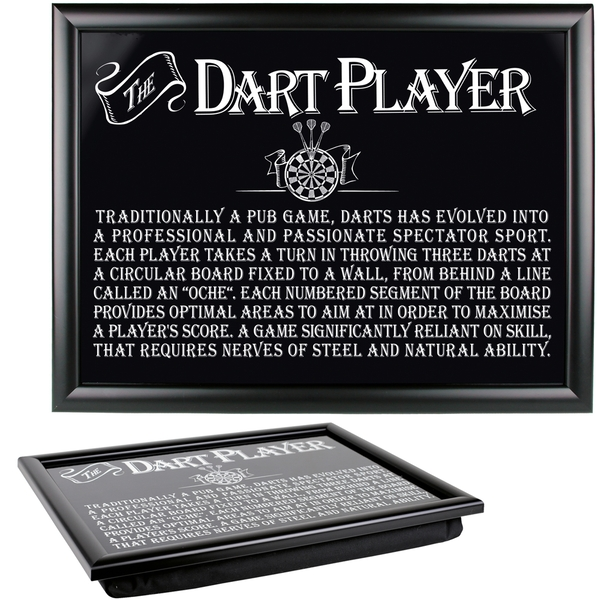 Ultimate Gift for Man Lap Trays Dart Player