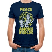 Rick And Morty - Peace Among Worlds Men's X-Large T-shirt - Blue