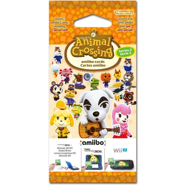 Animal Crossing Amiibo Cards Series 2 (3 Cards 1 Pack)