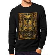 Crimes Of Grindelwald - Gold Foil Book Cover Men's Large Sweatshirt - Black