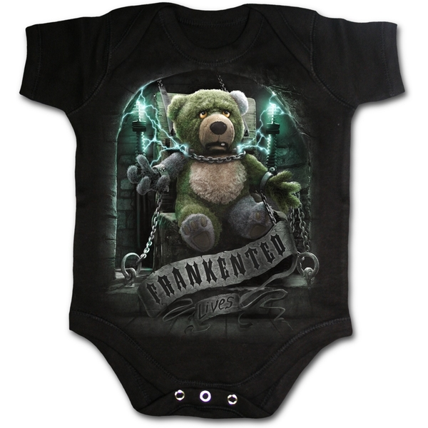 Frankented Baby Medium Sleepsuit - Black