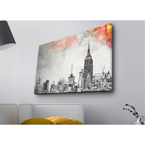 4570MDACT-020 Multicolor Decorative Led Lighted Canvas Painting