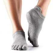 Toesox Low Rise Full Toe Socks  Heather rey  Small UK Size 3.5 - 5.5