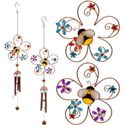 Bee and Flower Windchime Pack Of 2