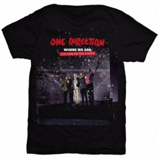 One Direction San Siro Movie Ladies Black T Shirt: Small